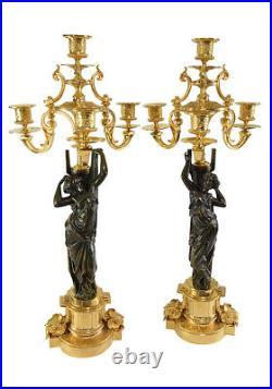 CHANDELIERS. Kaminuhr Empire clock bronze horloge antique cartel pendule