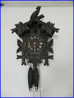 COUCOU ancien Forêt noire FMS Friedrich Mauthe Schwenningen Horloge pendule