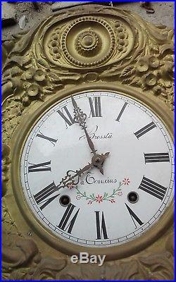 Cadran Mouvement Et Balancier Horloge Comtoise Decoree Signee Brosstu A Tonneins