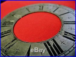 Cadran horloge 14 cm etain 18 eme pendulum clock uhr cartel lanterne coq