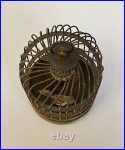 Cage A Oiseau Siffleur 1900 Automate Horloge En Etat Non Restaure C2719