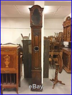 Caisse d'horloge chêne époque XIX siècle