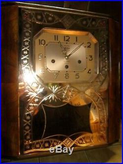 Carillon Art Deco Westminster 11 Marteaux 10 Tiges Miroir Etat Neuf