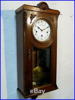 Carillon Japy Frères cie cadran émaillé 8 marteaux enameled dial (no ODO)