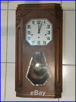 Carillon ODO 36 Westminster 8 tiges 8 marteaux horloge pendule ancienne année 30