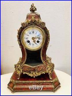 Cartel Boulle Et Sa Console 19 Eme Siecle Horloge Clock Uhr Pendule