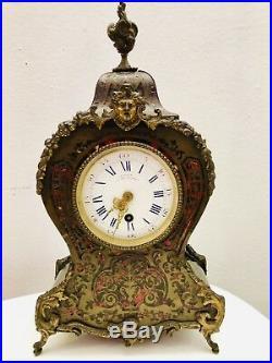 Cartel Boulle19 Eme Siecle Clock Uhr Martin Bld Des Italiens Paris