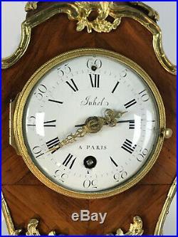 Cartel D Alcôve L. XV 18eme / Sonnerie A La Demande / Cadran De Juhel A Paris