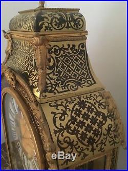 Cartel Époque Louis XV Pendule Horloge Marqueterie Boulle