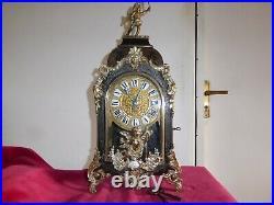 Cartel Horloge Marqueterie Boulle Signe Thuret A Paris