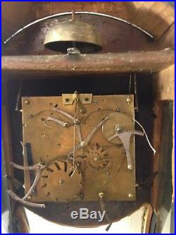 Cartel Horloge Neuchâteloise 18ème, Mouvement à complications, 2 Cloches