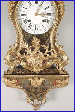 Cartel Louis XV époque XVIII° siècle Marqueterie Boulle