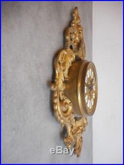 Cartel Pendule Horloge Murale En Bronze