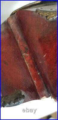 Cartel Rouge Style Boulle Rocaille Époque Nap III Mouvt H&f Paris Bronzes Marti