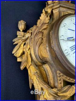 Cartel bronze doré horloge pendule style louis XVI 19° siècle