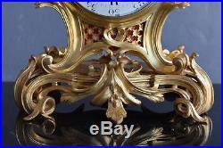 Cartel en bronze doré de Lepaute à Paris style Louis XV