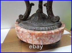 Cassolette déco parure de cheminée horloge pendule clock uhr XIX XXe Napoleon