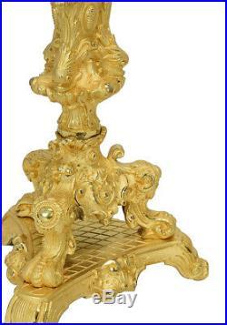 Chandeliers. Kaminuhr Empire clock bronze horloge antique pendule bougeoir