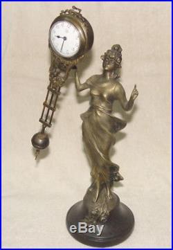 Classique beauté ancienne Comtoise Bronze Horloge / Pendule