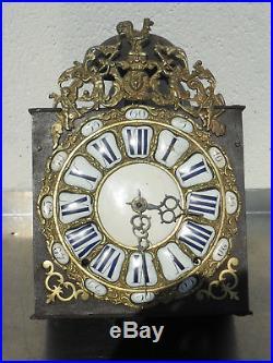 Comtoise XVIII éme coq 24 cartouches trés bon état, horloge, mouvement, mécanisme