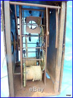 Comtoise mouvement pendule horloge 18 ème mécanisme mensuel 18th pendulum clock