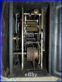 Comtoise petite taille dans son jus, horloge, pendule, mécanisme, mouvement, balancie