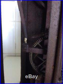 Comtoise une aiguille largeur 21,5 cm a compléter et nettoyer trace de rouille