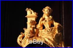 Corps de pendule en bronze doré, Epoque Restauration