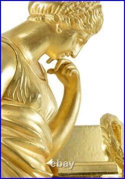 EMPIRE LA LECTURE. Kaminuhr Empire clock bronze horloge antique pendule uhren