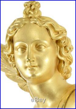 EROS MASSUE HERCULE. Kaminuhr Empire clock bronze horloge antique pendule uhren