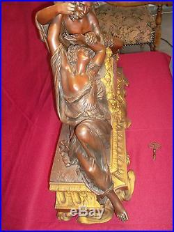 Exceptionnel Et Rare Pendule En Bronze De Henri Picard