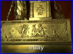 Énorme horloge cartel pendule empire restauration de collection en bronze
