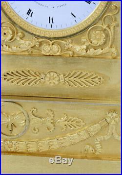 Eros. Kaminuhr Empire clock bronze horloge antique cartel pendule