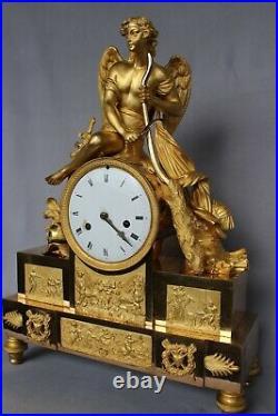 Éros Pendule Bronze Doré Empire Candelabre Candlestick Napoléon Cartel Uhr