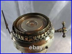 Eugène Farcot Ancienne Rare Pendule Veilleuse A Cadran Tournant Horloge Pendulum