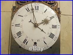 Exceptionnel mécanisme comtoise 4 cloches époque 18éme Horloge Pendule mouvement