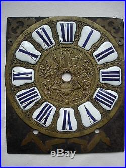 Facade de comtoise cadran a cartouches XVIIIeme 18eme