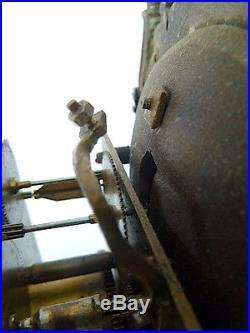 Fontaine de cristal Empire Bronze a restaurer horlogerie pendule dauphin chimère