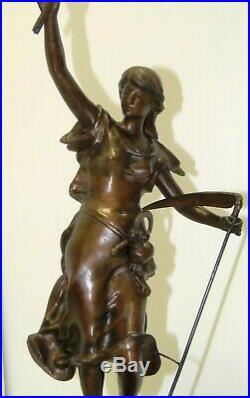 GARNITURE de CHEMINEE PENDULE ART NOUVEAU Sujet Régule patine Bronze AGRICULTURE