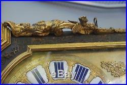 GRAND CARTEL ANCIEN BOULLE DE 66x37 CM DE HAUT