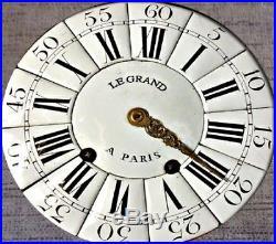 GROS MOUVEMENT DE CARTEL XVIIIEME CLOCK pendule