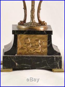 Garniture De Cheminée De Style Empire Pendule Au Char pendule Bronze clock uhr