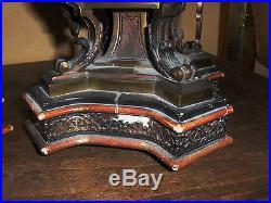 Garniture de cheminée/pendule bronze ancienne + chandeliers/ candélabres 19 éme