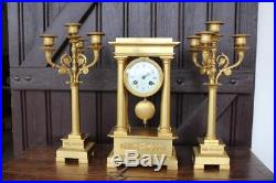 Garniture de cheminée en bronze doré, Napoléon III