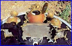 Garniture de cheminée régule pendule et cassolettes Art nouveau 1900 a. D mougin
