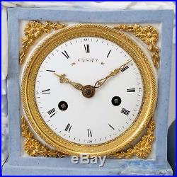 Gaston JOLLY pendule biscuit epoque Louis XVI / Directoire fin XVIII s Sevres