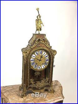 Grand Cartel En Marqueterie Boulle Et Bronze Doré Epoque Napoleon III De 75 CM