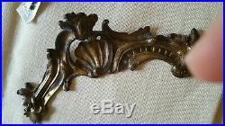 Grand Cartel époque 18èm 18th XVIIIEME pendule clock bois bronze doré cadran top