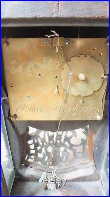 Grand cartel 18ème Jollain Fluteau vernis Martin à restaurer hauteur 131 cm