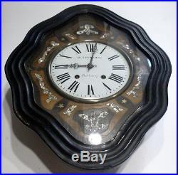 grande horloge ancienne pendule oeil de boeuf tableau comtois mvt franc comtois horloges pendules. Black Bedroom Furniture Sets. Home Design Ideas